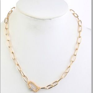 Link Gold Chucky Accented Link Necklace
